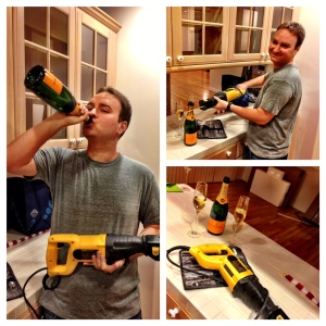 Champagne & power tools!
